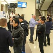 Industrial engineering students, primarily juniors and seniors, gather to showcase their efforts in undergraduate research.
